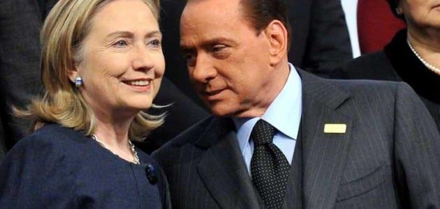 """Hillary Clinton: """"Al telefono con me Berlusconi piangeva..."""""""
