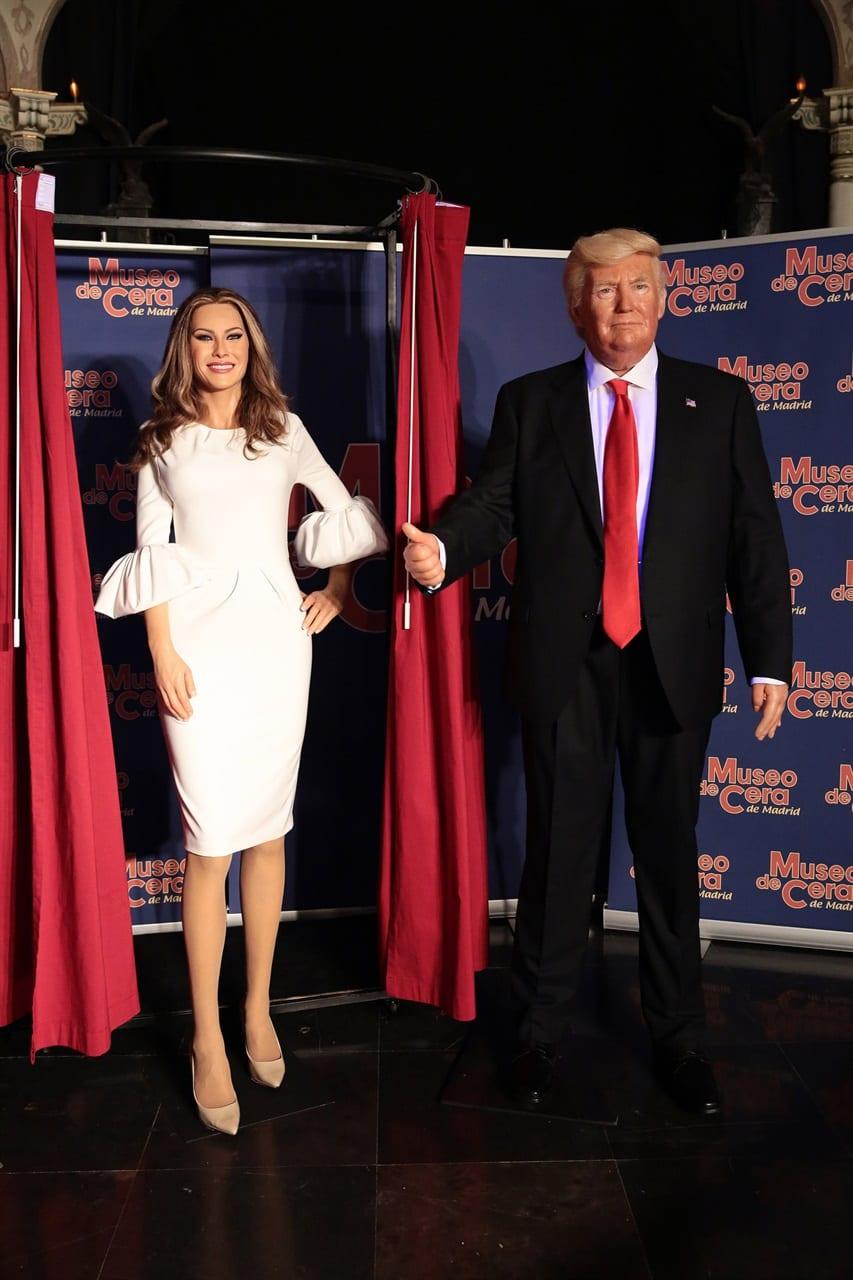 In vendita l'abito della statua di cera di Melania Trump