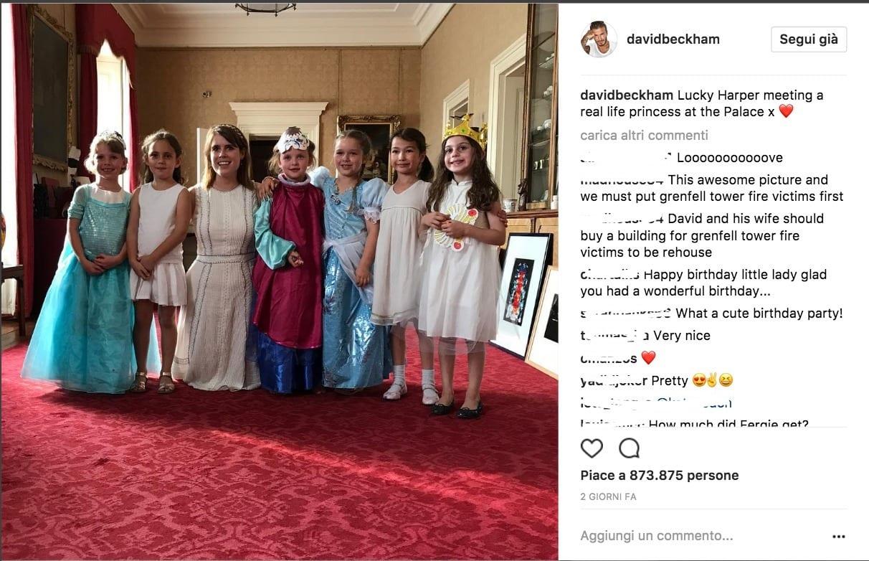 Harper Beckham compleanno da principessa a Buckingham Palace