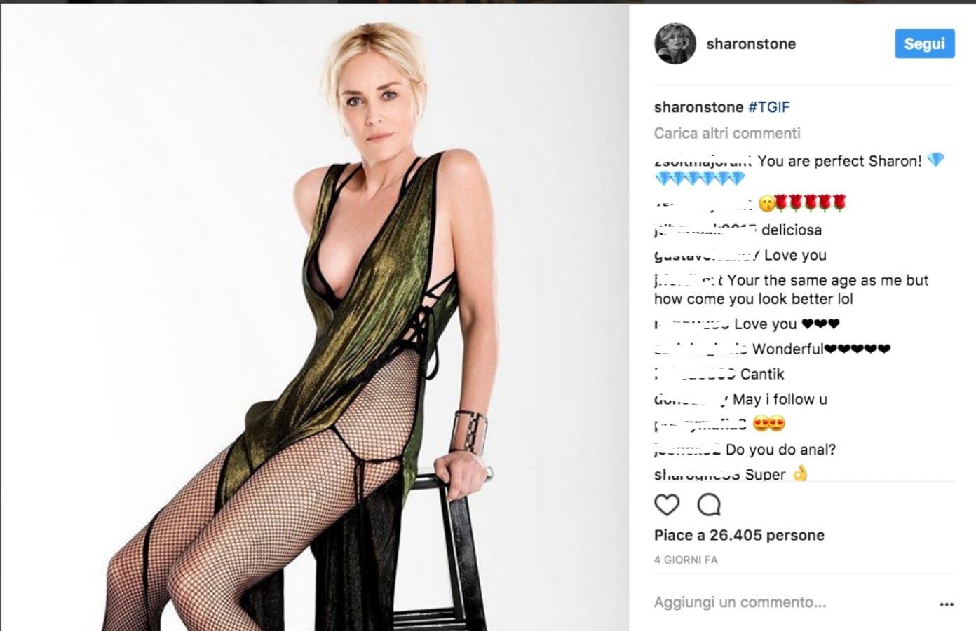 Sharon Stone, il Basic instict è su Instagram [FOTO]