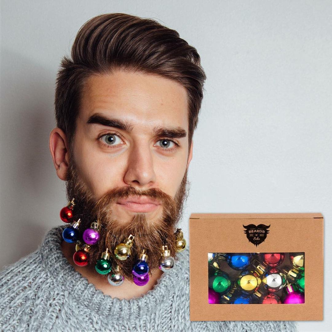 Decorazioni di Natale originali? Arriva in Italia Beard Baubles