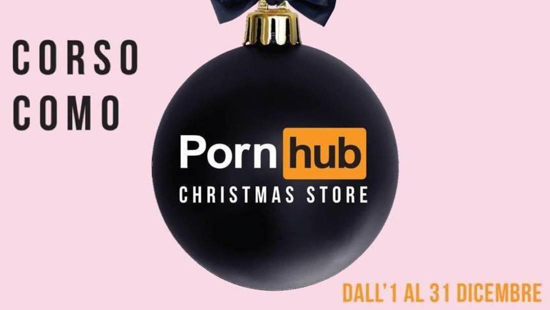 Pornhub sceglie Milano per aprire il primo Christmas temporary store del porno