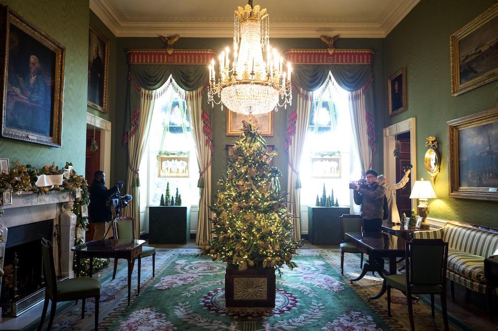 Decorazioni Ufficio Natale : Natale alla casa bianca le decorazioni di di melania trump foto