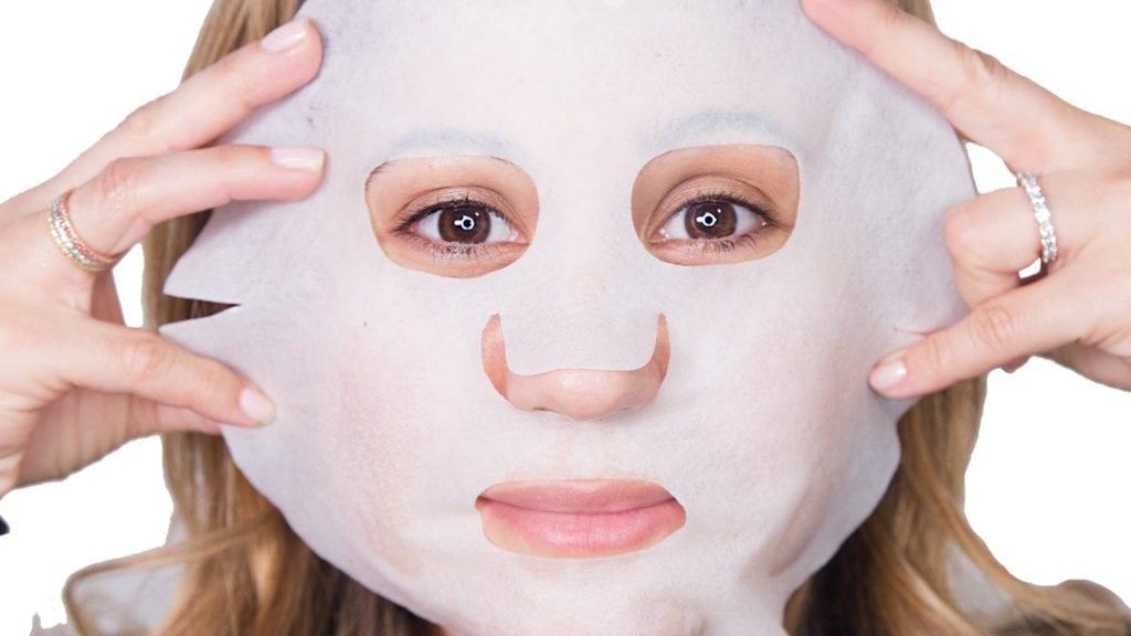 maschera viso tessuto