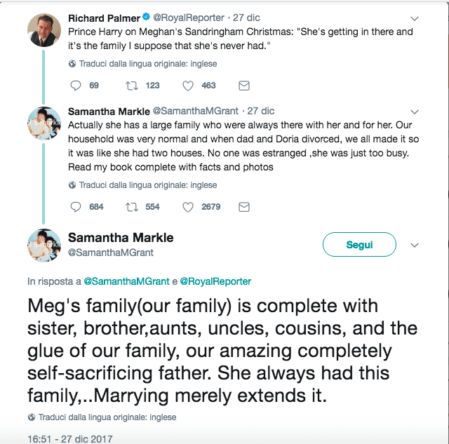 """Samantha Markle contro il principe Harry: """"Meghan ha una famiglia"""""""