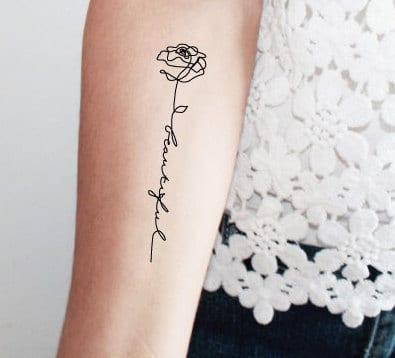 Tatuaggio Minimal A Una Sola Linea Continua Nuovo Trend Su