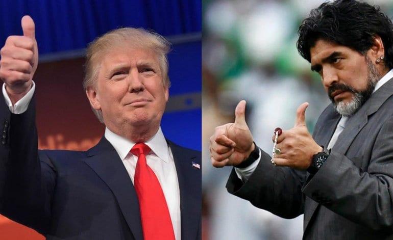 Maradona non può entrare negli Usa per le critiche a Trump