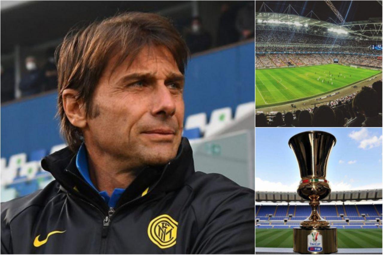 Inter scudetto Coppa Italia tifosi stadio