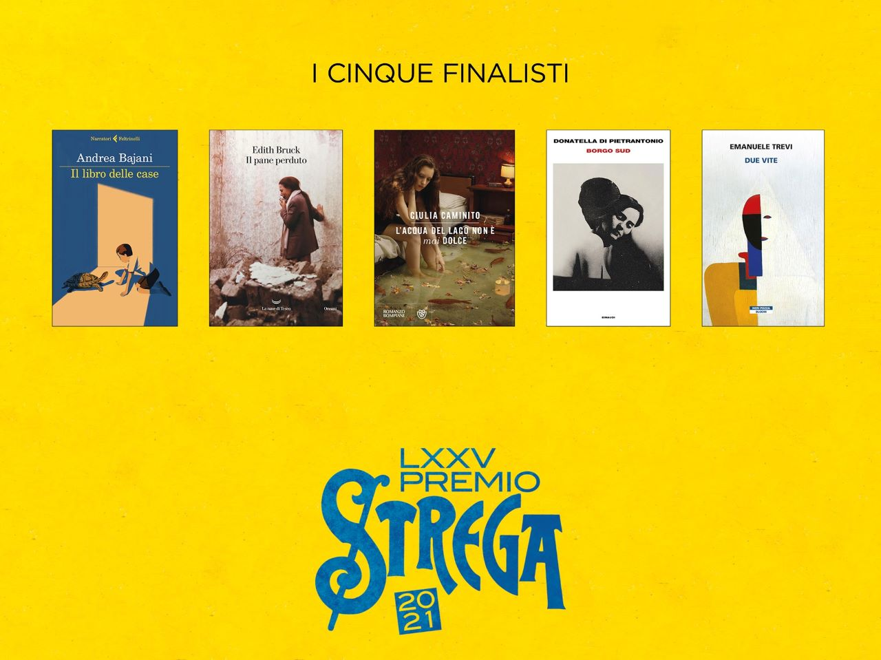 Premio Strega 2021 i 5 finalisti: chi sono che libri presentano