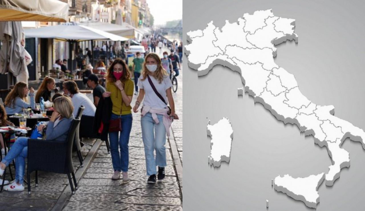 Zona bianca Italia stop mascherine